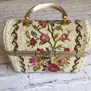 Vintage Italian Needlework Handbag Purse